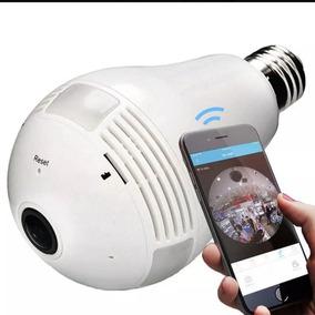 Lâmpada Espiã Câmera Celular Led Wifi Hd Panorâmica
