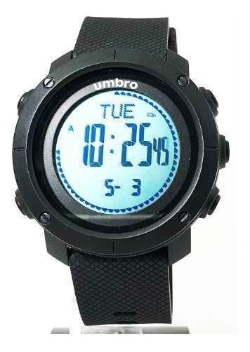 Relógios Pulso Umbro Umb-121-2 Pedometro Preto Garantia Nf
