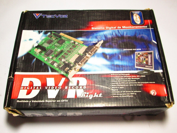 Placa Tec Voz Dvr 120/120 Fps 08 Cameras Light Tec-120/08lig
