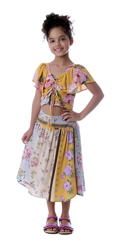 Imagem 1 de 2 de Saia Midi E Cropped Lavanda Camu Camu Infantil Menina
