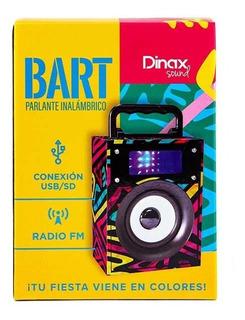 Parlante Portátil Bart Dinax Bluetooth Inalámbrico Fm