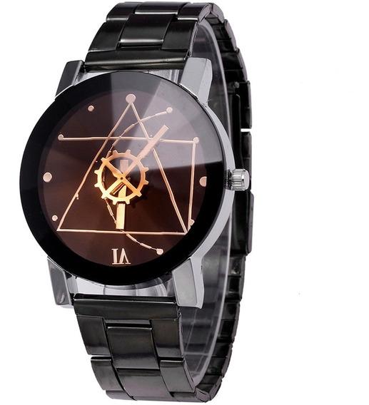 Reloj Analogo Para Hombre De Pulsera Casual Negro H9031