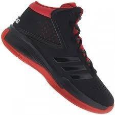 Tênis Basquete adidas Original Cross Em 4 Preto/vermelho