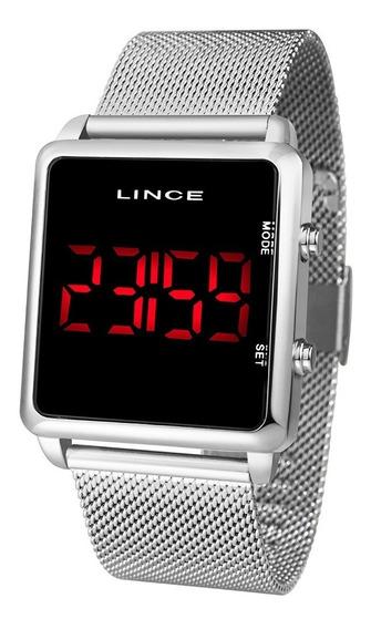 Relógio Lince Digital Unissex Prata - Mdm4596l Pxsx Led