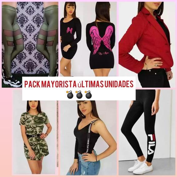 Pack Mayorista De Ropa Para Mujer Calzas Remeras Etc
