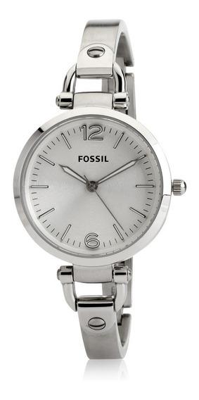 Relógio Feminino Fossil Es3083 Georgia Prata Novo Original