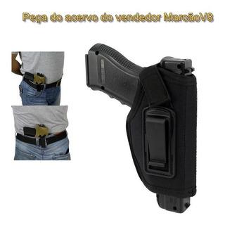 Coldre Velado Para Revolver E Pistola Pequena E Média