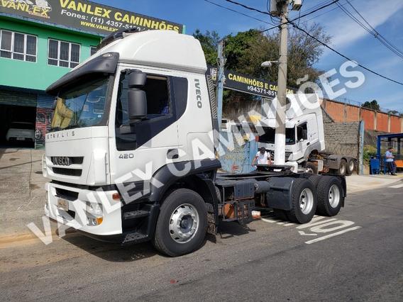 Iveco Stralis 420 6x4 Raridade 207000 Km Ñ Volvo Scania Axor