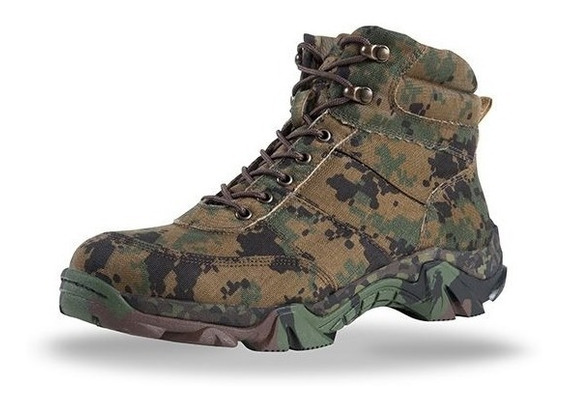 Botas Militares Pixel Digitales Camuflaje Pixeleado Botines Zapato Tactico Sk7 Cortas Sixka 707 Guardia Policia Sedena