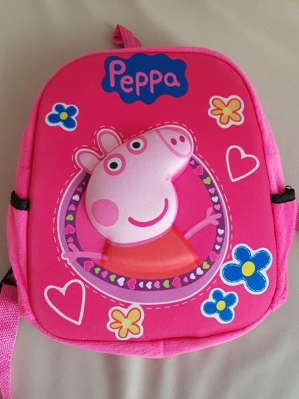 Mochila Infantil Peppa Pig Divina Con Relieve Y Super Suave!