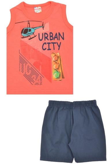 Conjunto Bebê Masculino Urban City Brandili 33246 Tam 1 2 3