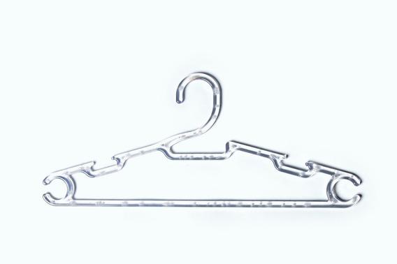 Ki Cabide Acrilico 0,39 Cm Para Camisa Blusa Caixa Com100 Un