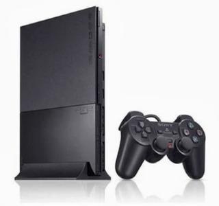 Playstation 2 Ps2 Slim + 2 Controles + Pendrive + 5 Jogos