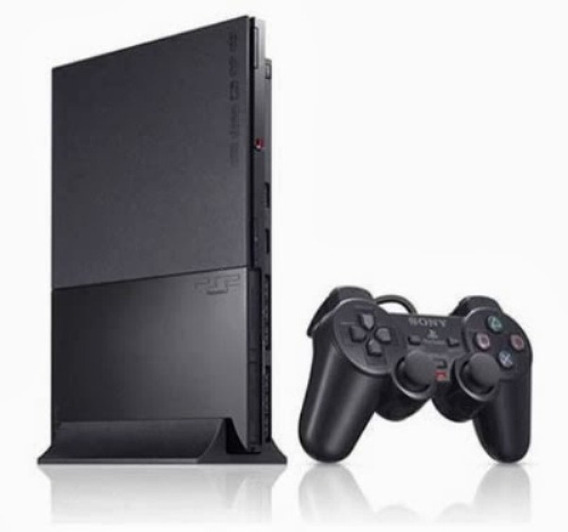 Playstation 2 Ps2 Slim + 2 Controles + Pendrive + 5 Jogos