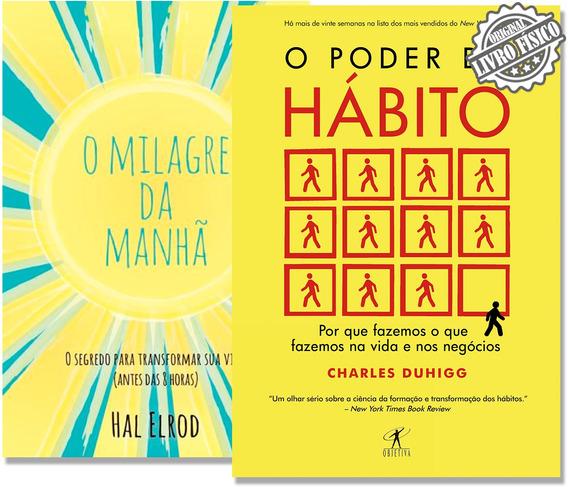 Kit Livros O Milagre Da Manhã + O Poder Do Hábito