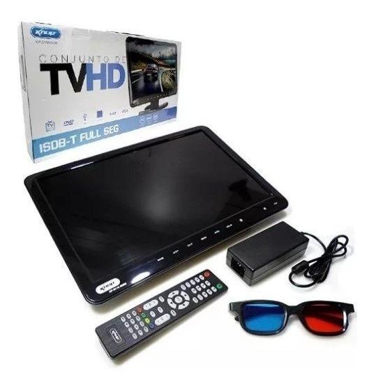 Tv Monitor 15,4 Pol Kp-116 Knup Lcd Hd 1080p Dvd Player Usb