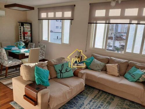 Apartamento À Venda, 107 M² Por R$ 465.000,00 - Boqueirão - Santos/sp - Ap1719