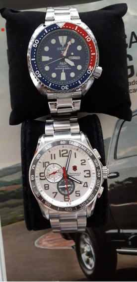 Relógio Seiko / Victorinox/ Duo Pelo Preço De 1