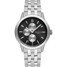 Relógio Masculino Technos Grandtech 45mm Aço Prata Premium