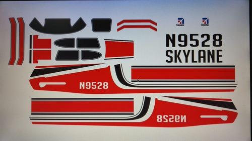 Adesivos Completo Para Aeromodelos Diversas Cores E Modelos