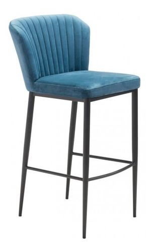 Imagen 1 de 8 de Banco De Bar Modelo Tolivere - Azul Këssa Muebles