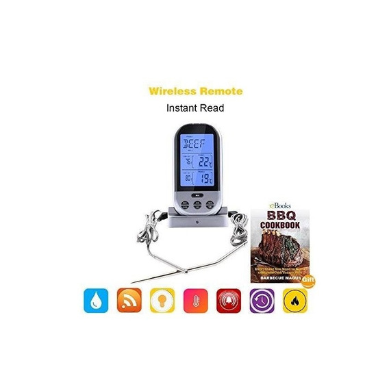 Meat Thermometer For Grilling - Wireless Remote Oven Thermom