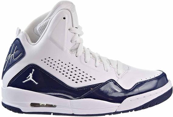 Tenis Para Hombre Jordan Sc-3 Básquetbol Blanco Con Azul