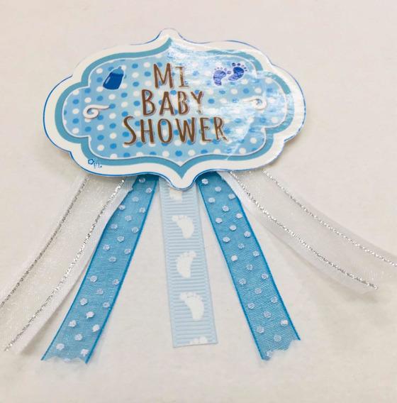 18 Pzs -recuerdo Distintivo Para Baby Shower .