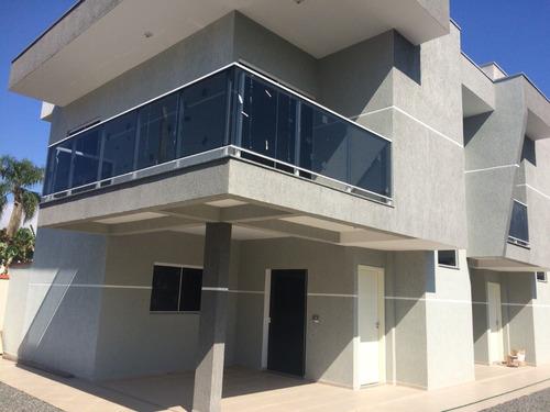 Imagem 1 de 29 de Sobrado Em Condomínio Com 3 Dormitórios À Venda Com 108.57m² Por R$ 280.000,00 No Bairro Itapoá - Itapoa / Sc - Sob-070