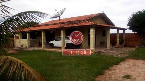 Imagem 1 de 13 de Chácara Com 2 Dormitórios À Venda, 140 M² Por R$ 250.000 - Ch0144
