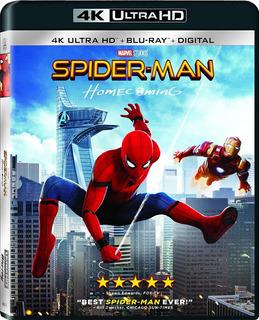 Spider-man Homecoming 4k Ultra Hd + Blu-ray + Digital Nuevo