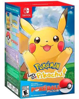 Pokémon Lets Go Pikachu Poke Ball Nintendo Switch Nuevo