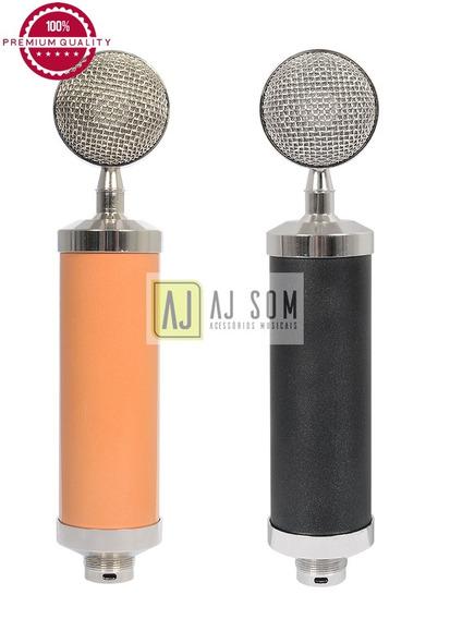 Microfone Condensador C/cabo Xlr,aranha Metal,anti Puff