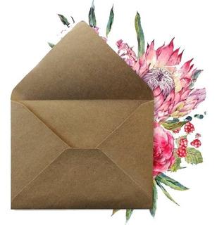50 Sobres Kraft Económicos Media Carta Invitaciones