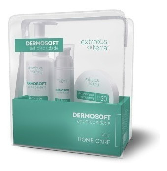 Kit Antioleosidade | 3 Itens Dermosoft Extratos Da Terra