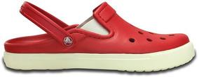 Zapato Crocs Caballero City Sneaks Rojo