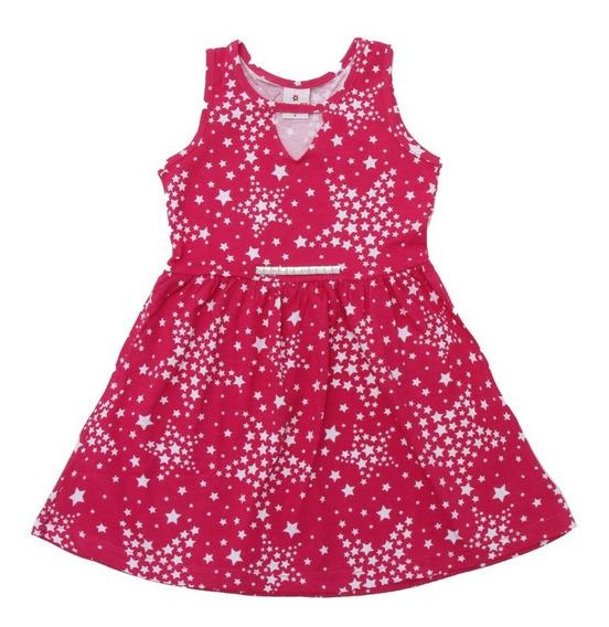 Vestido Rosa Pink Estrelado Brandili - Tam 6