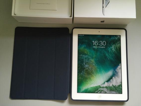 iPad 4 Branco Com Capa Em Couro