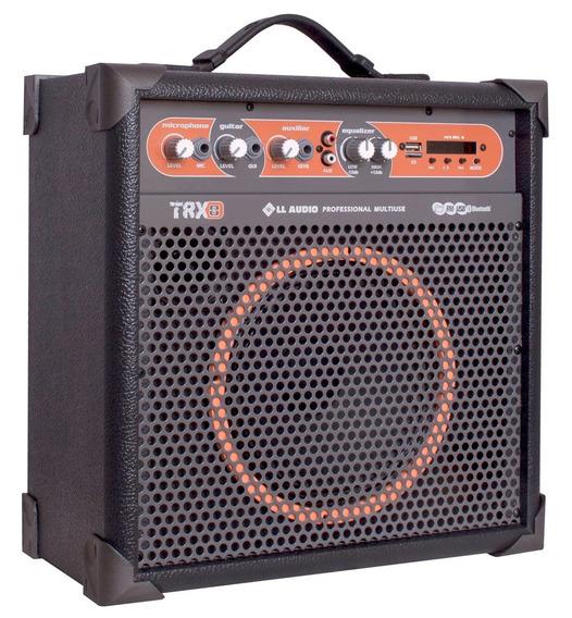 Caixa Amplificada Multiuso Usb Rádio Bluetooth Fm Ll Trx8