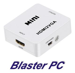 Conversor Adaptador Ps4 Hdmi A Vga Activo Con Audio Zona Alto Rosario Blaster Pc