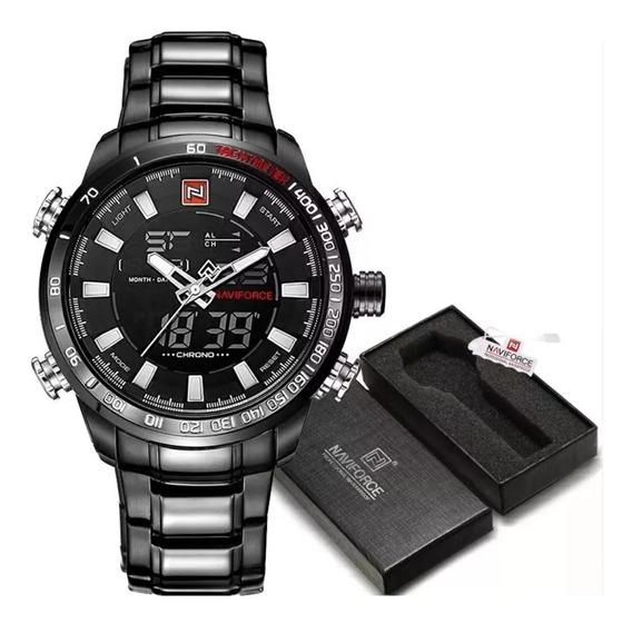 Relógio Masculino Naviforce Nf9093 Pronta Entrega Com Caixa