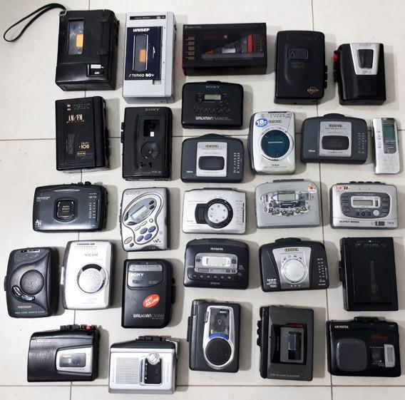 Lote C/ 28 Walkmans + Walk-gravadores ( Ler Anúncio!) Raros!