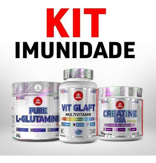 Kit Imunidade- Vit Glaft 90 + L-glutamine 280 + Creatine 100