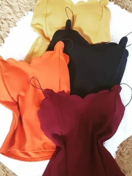 Kit 5 Blusas Nuvem Feminina Regata Bojo Moda Verão
