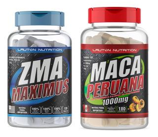 Kit Musculação - Maca Peruana 1000mg 180cp + Zma Maximus 120cp - Aumento Da Massa Magra E Definição Muscular