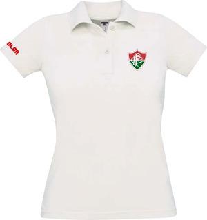 Camiseta Camisa Polo Feminina Torcedor Fluminense