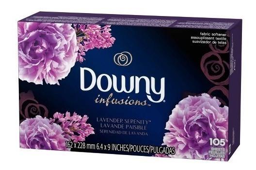 Downy Amaciante Lenço Secadora Roupas Perfumado C/105 Folhas