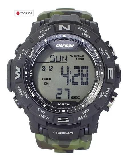 Relógio Mormaii Army Camuflado Garantia Technos Original Nfe