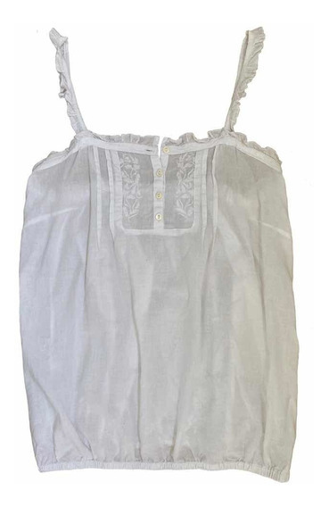 Musculosa De Mujer Cuesta Blanca Blusa Bordada T. M