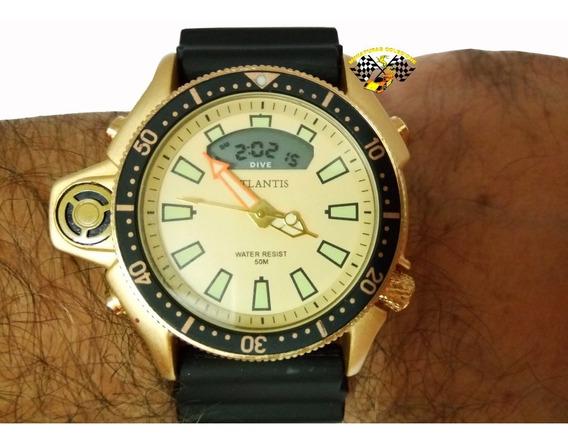 Relógio Masc Atlantis G3220 Aqualand Jp2000 Fundo Amare Peq.